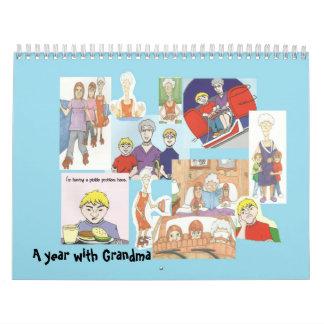 Calendario del collage de las abuelas