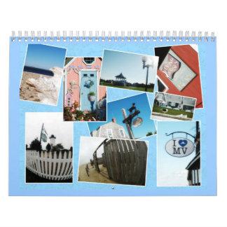 Calendario del color de la isla del Martha s Viney