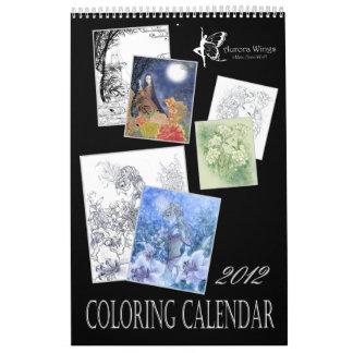Calendario del colorante de la fantasía