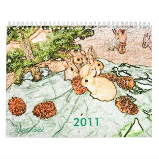 Calendario del conejito 2011 de Weedscapes