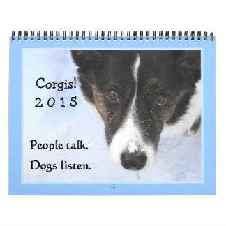 Calendario del Corgi 2015 de la rebeca