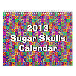 Calendario del cráneo del azúcar