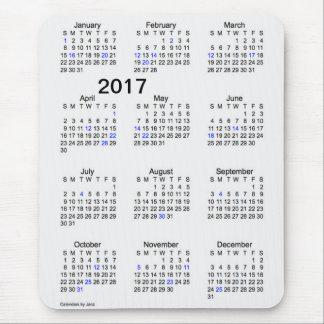 Calendario del día de fiesta del humo de la tapete de ratón