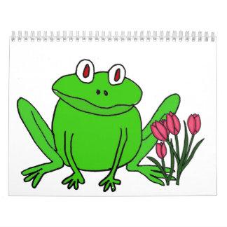 Calendario del dibujo animado del placer de las