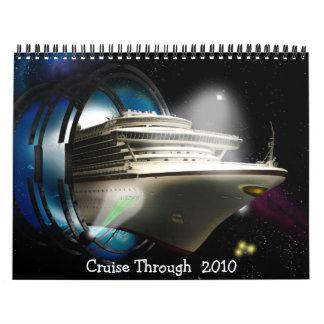Calendario del diseñador de la travesía hasta el