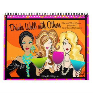 Calendario del diseño de 2015 chicas trabajadoras