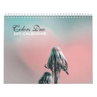Calendario del dúo 2011 de los colores