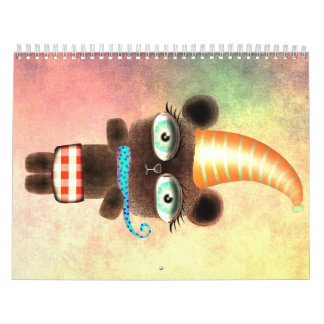 Calendario del ejemplo de 2012 niños