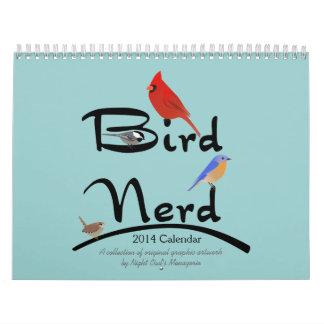 Calendario del empollón 2014 del pájaro