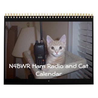 Calendario del equipo de radio-aficionado y del