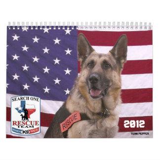 Calendario del equipo de rescate 2012 de la