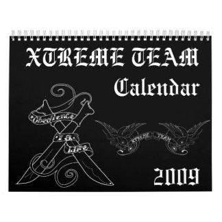 calendario del equipo del xtreme