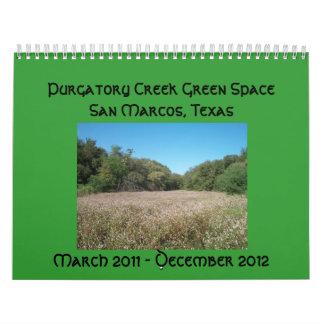 Calendario del espacio del verde de la cala del