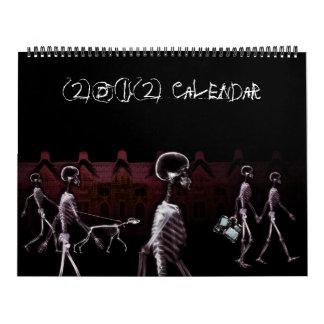 Calendario del esqueleto 2011 de Vision de la