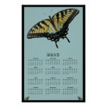 Calendario del este de Swallowtail del tigre 2015 Póster