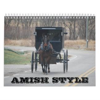Calendario del estilo de Amish