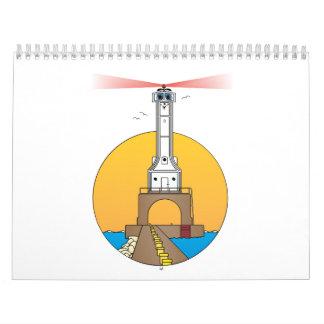 Calendario del faro del dibujo animado