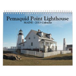 Calendario del faro del punto de Pemaquid