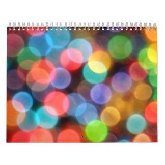 Calendario del fiesta de la burbuja