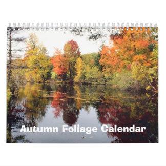 Calendario del follaje 2009 del otoño de la caída