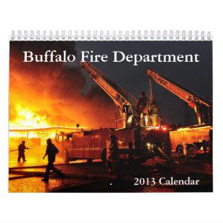 Calendario del fuego 2013 del búfalo