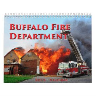 Calendario del fuego 2015 del búfalo