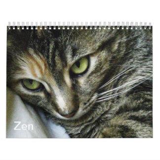 Calendario del gatito del zen