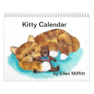 Calendario del gatito - dibujos de Digitaces -