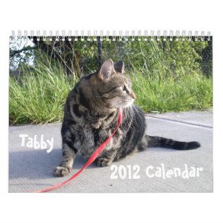 Calendario del gato de Tabby 2012