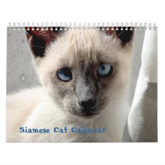 Calendario del gato siamés