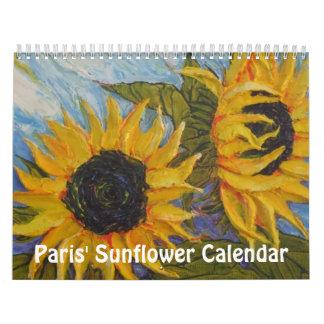 Calendario del girasol de París
