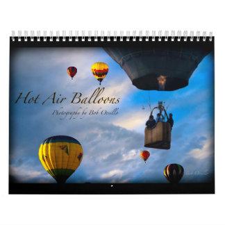 Calendario del globo del aire caliente