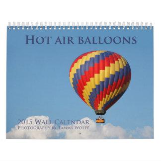 Calendario del globo del aire caliente 2015
