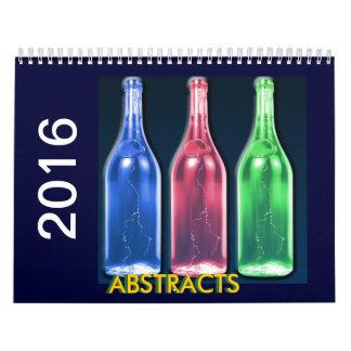 Calendario del gráfico de 2016 extractos
