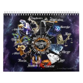 Calendario del gráfico del zodiaco