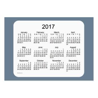 Calendario del gris de pizarra 2017 por la tarjeta tarjetas de visita grandes