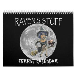 calendario del hurón de la materia de los cuervos