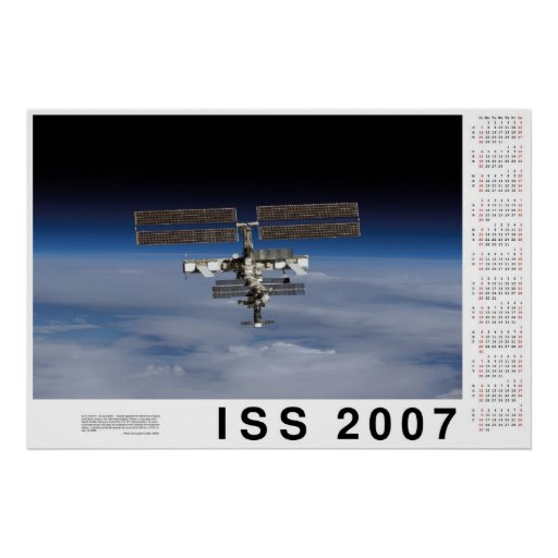 Calendario del ISS 2007 Poster