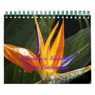 Calendario del jardín 2012 de Janette