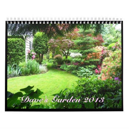 Calendario del jardín 2013 de Dave