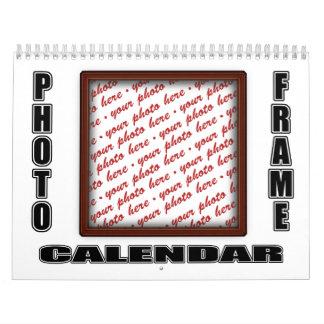 Calendario del marco de la foto