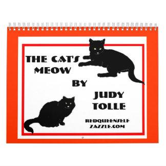 Calendario del maullido del gato