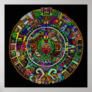 Calendario del maya por Myztico Poster