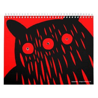 Calendario del monstruo para 2011 de Motomichi Nak