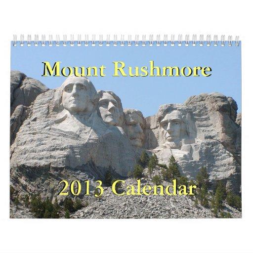 Calendario del monte Rushmore 2013