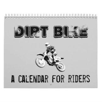 Calendario del motocrós de la bici de la suciedad