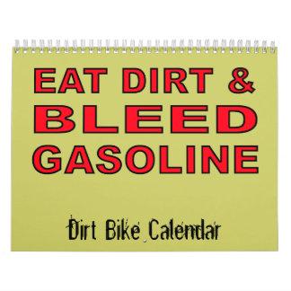 Calendario del motocrós de la bici de la suciedad.