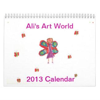 Calendario del mundo 2013 del arte de Ali
