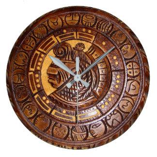 Calendario del nativo americano reloj redondo grande