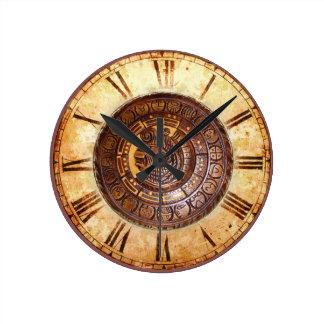 Calendario del nativo americano reloj redondo mediano